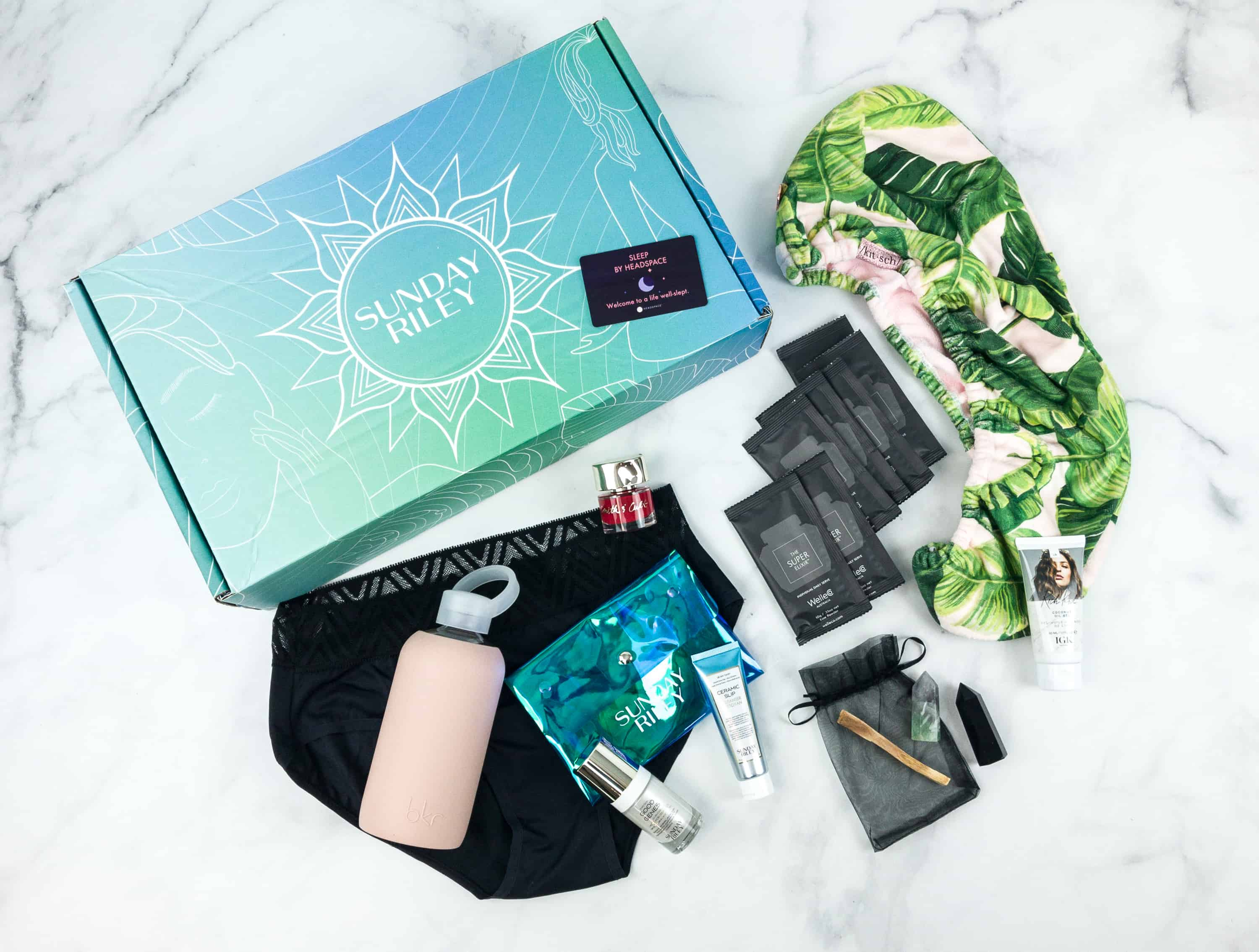 Sunday Riley Box Fall 2018 Subscription Box Review – WELLNESS EDITION