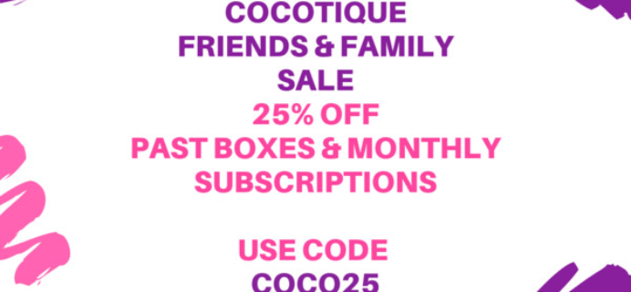 Cocotique Sale: 25% off all Subscriptions & Past Boxes!