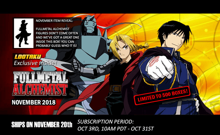 Lootaku November 2018 Theme Spoilers + Coupon!