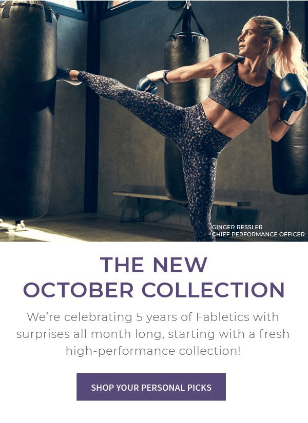 October 2018 Fabletics Selection Time + New Member Offer!