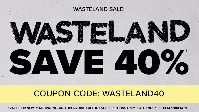 Fallout Crate Coupon: Save 40%! LAST CHANCE!
