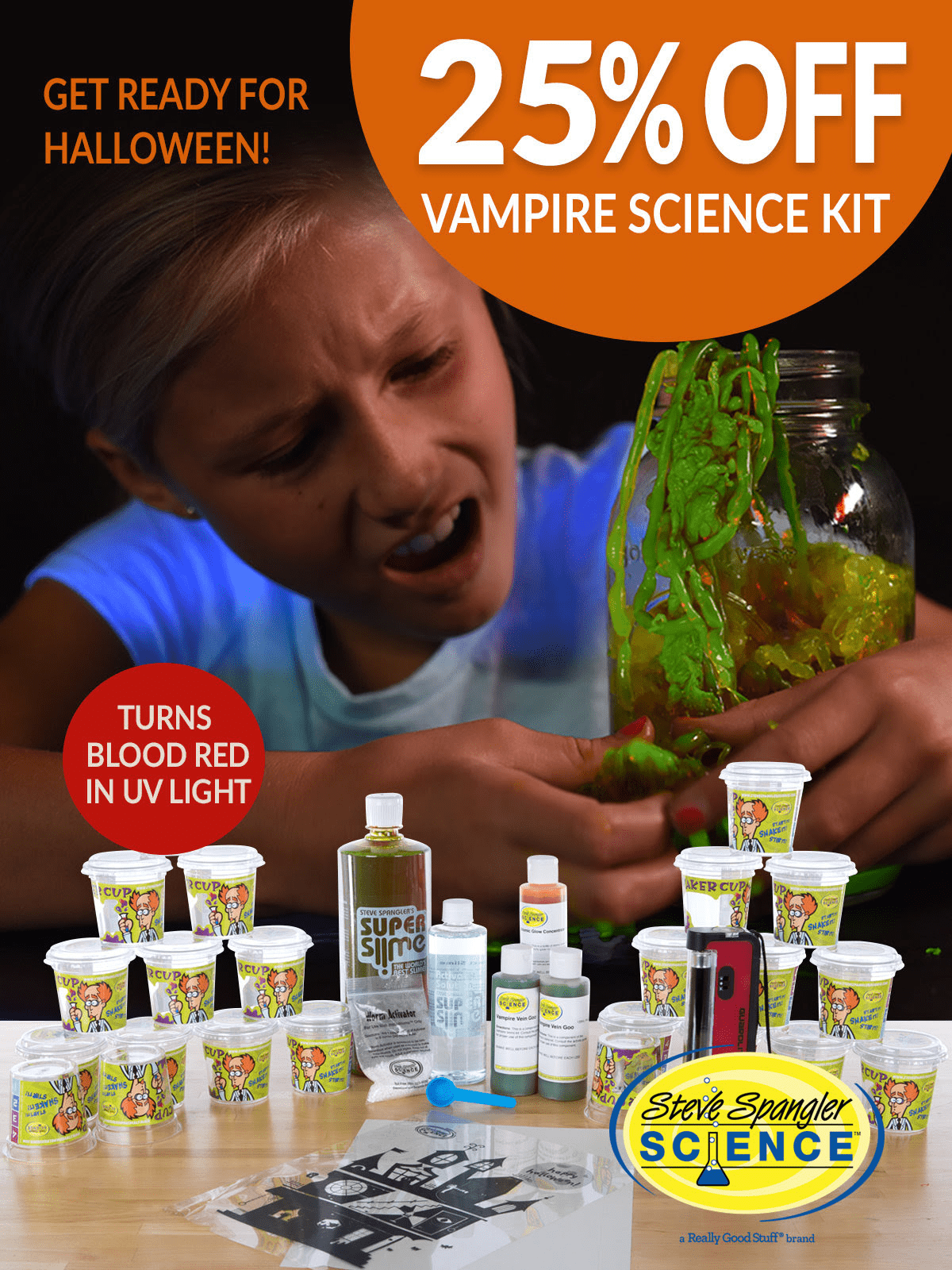 Spangler Science Club Halloween Sale: Get 25% OFF Vampire Science Kit!