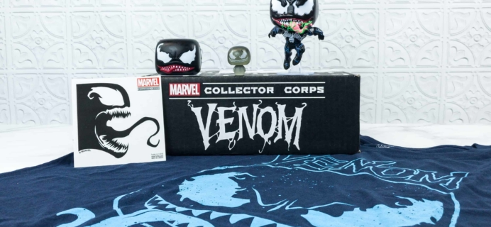 Marvel Collector Corps September 2018 Subscription Box Review – VENOM
