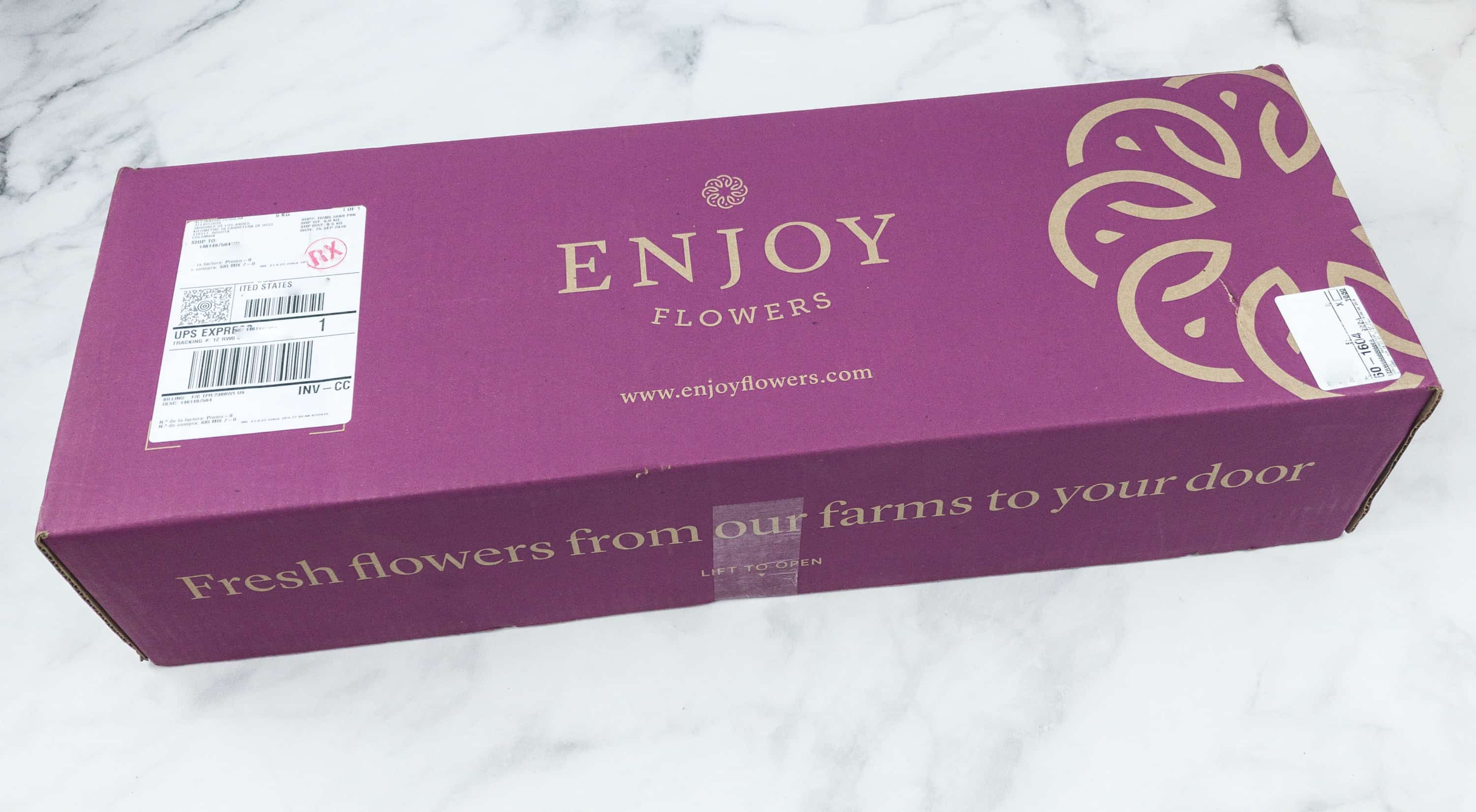 Enjoy flowers october 2018 subscription box review 50 off coupon enjoy flowers is a flower subscription service that brings long lasting fresh flowers once or twice a month bouquet prices start at 3825 per delivery and izmirmasajfo