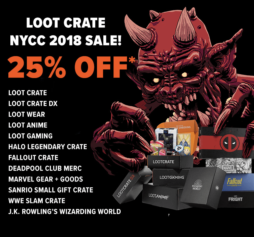 Loot Crate Coupon: Get 25% Off Select Crate Subscriptions!