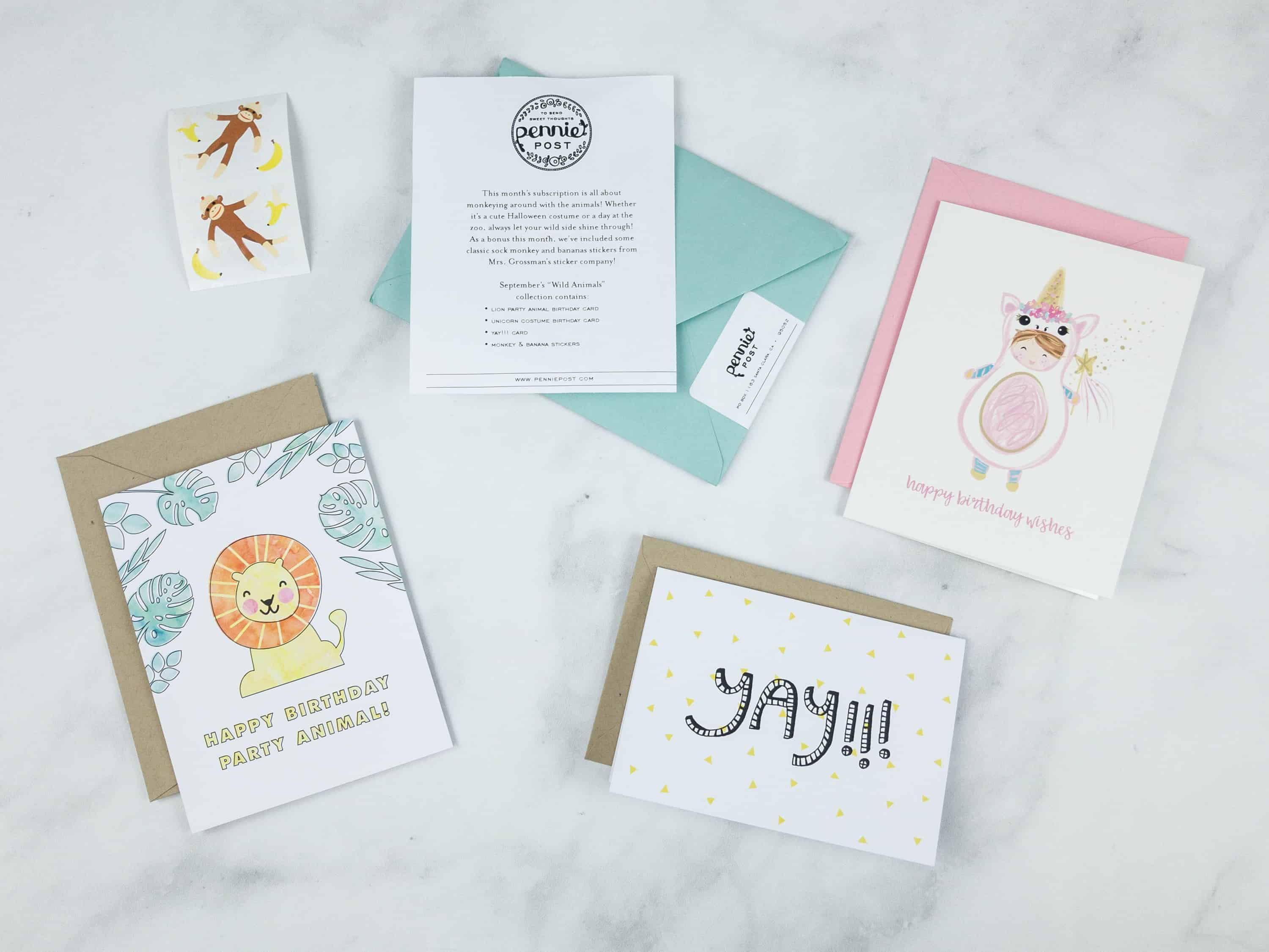 Pennie Post Stationery September 2018 Subscription Review – WILD ANIMALS