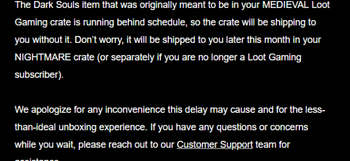 August 2018 Loot Gaming Shipping Update #3