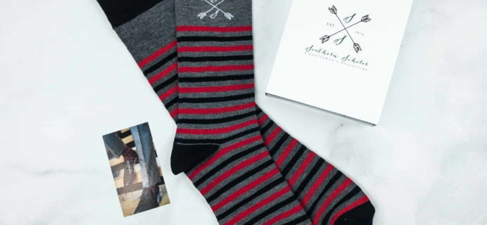 Southern Scholar Men's Sock Subscription Box Review & Coupon – October 2018