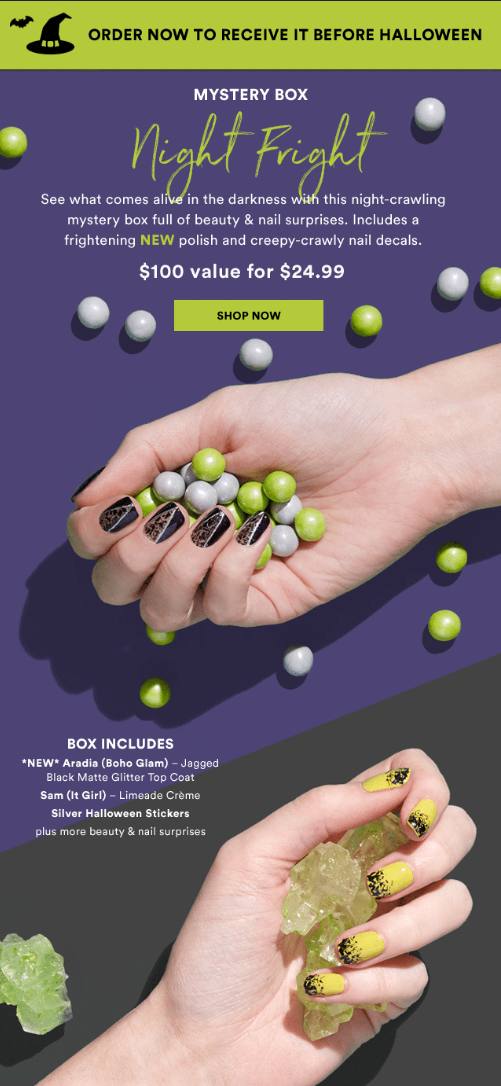 Julep October 2018 Night Fright Mystery Bo Available Now + Coupon!