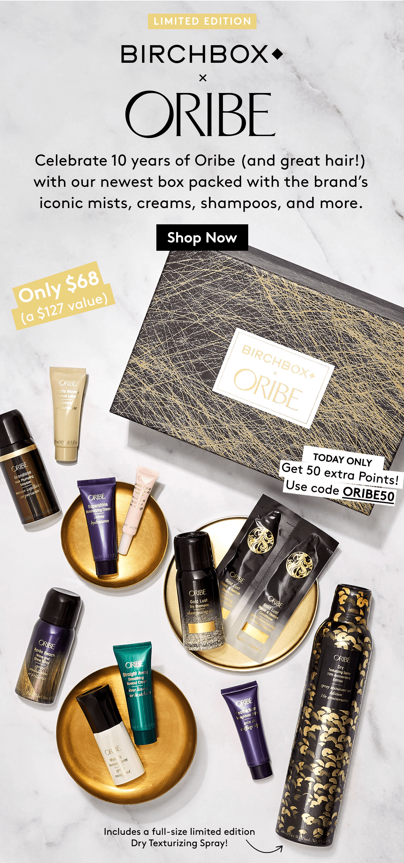 Oribe x Birchbox Limited Edition Box Available Now + Coupon!