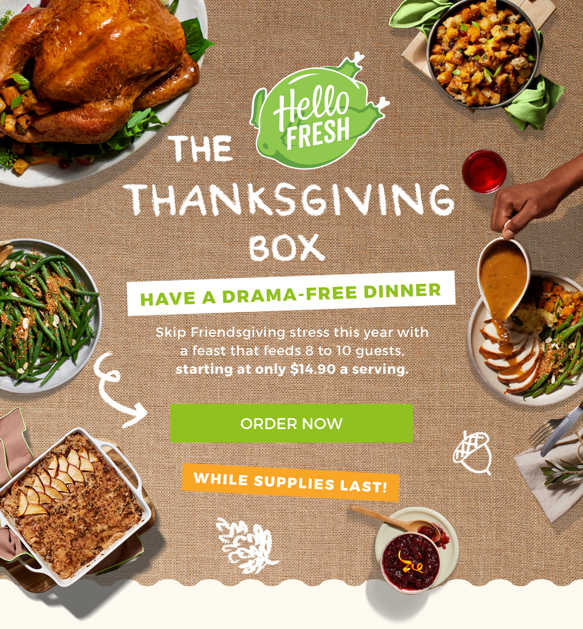 Hello Fresh Thanksgiving Box Available Now + Coupon!