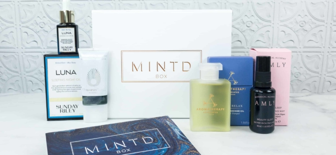 MINTD Box October 2018 Subscription Box Review + Coupon!
