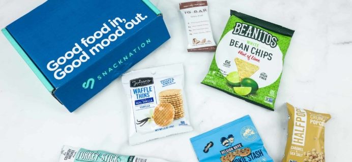 Snack Nation October 2018 Subscription Box Review + Coupon!