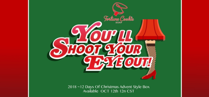 Fortune Cookie Soap 2018 Advent Calendar Box Available Now + Scent Spoilers!