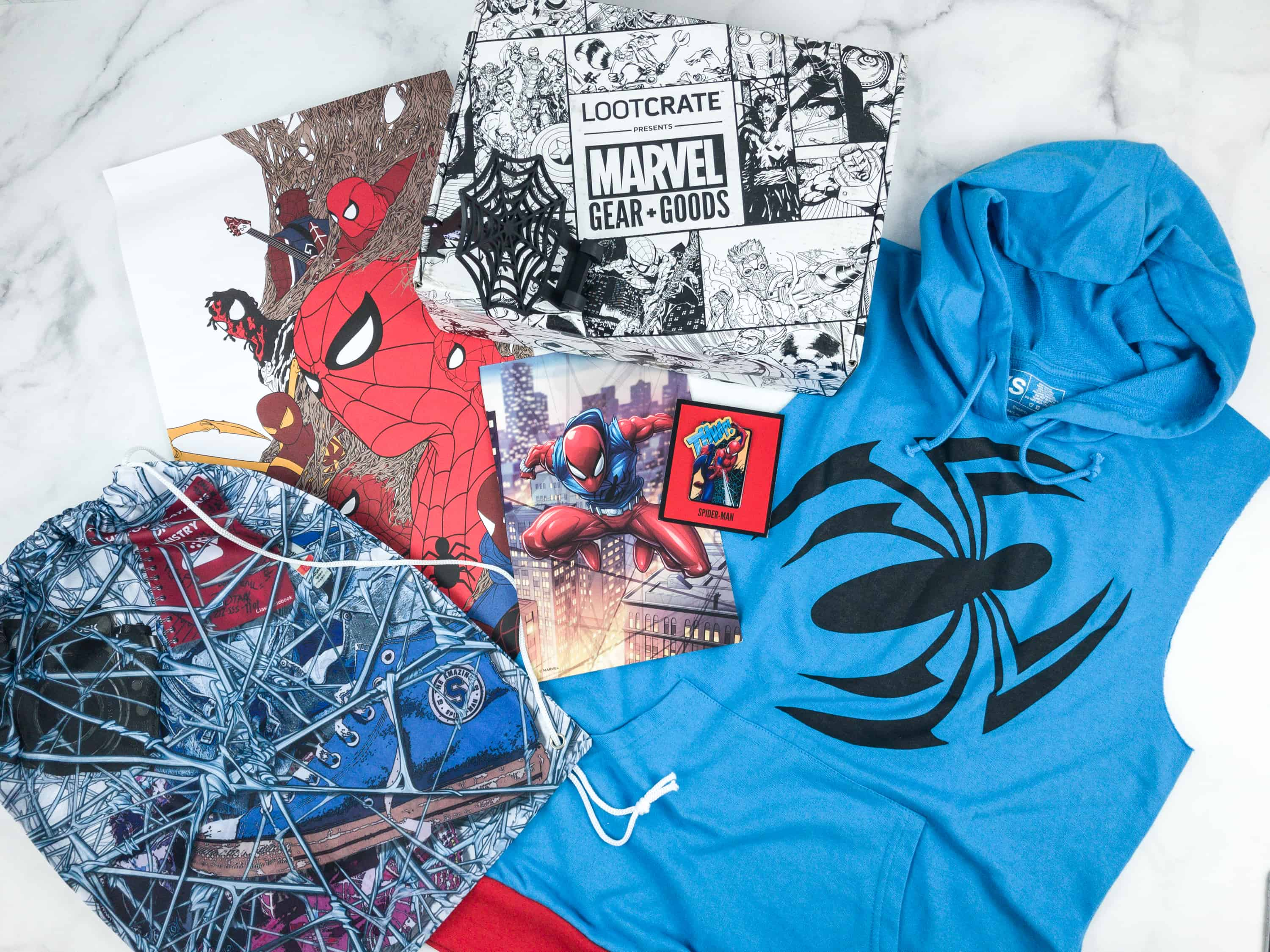 Marvel Gear + Goods September  2018 Subscription Box Review + Coupon!
