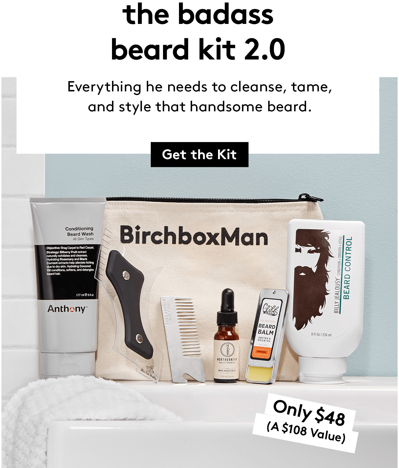 New Birchbox Man Limited Edition Box: The Badass Beard Kit 2.0 + Coupons!