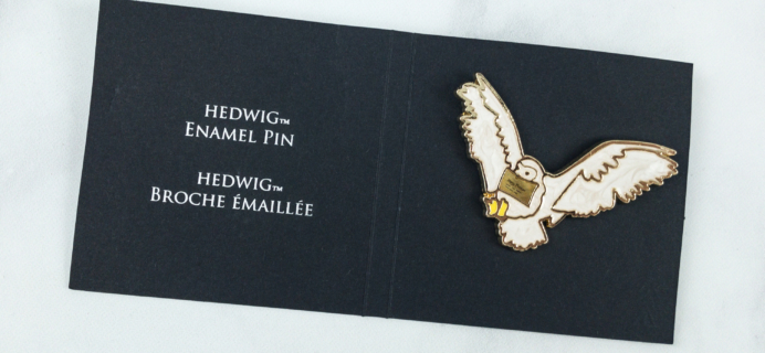 JK Rowling's Wizarding World Crate September 2018 Update – Hedwig Pin Finally Arrived!
