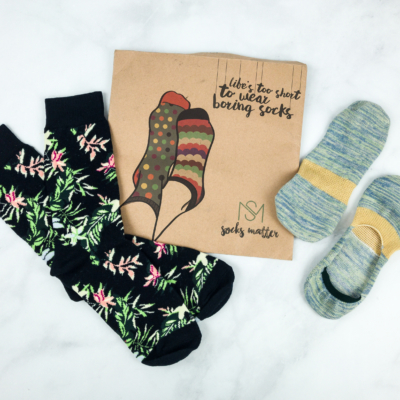 Get Monthly Awesome Socks with Socks Matter – First Month $6 Coupon!