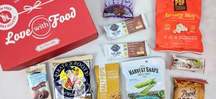 Love With Food Gluten-Free October 2018 Subscription Box Review + Coupon