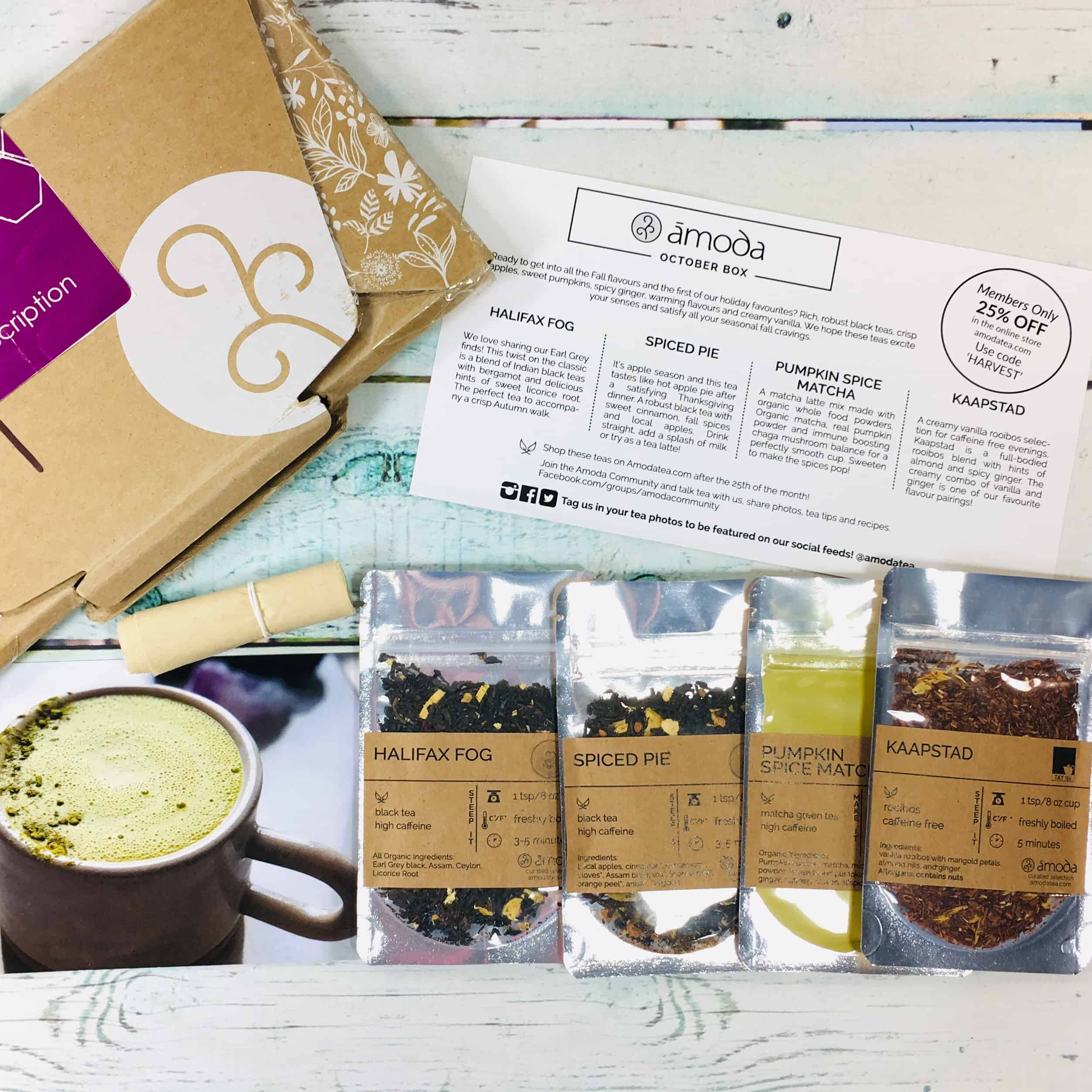 Amoda Tea October 2018 Subscription Box Review + Coupon!