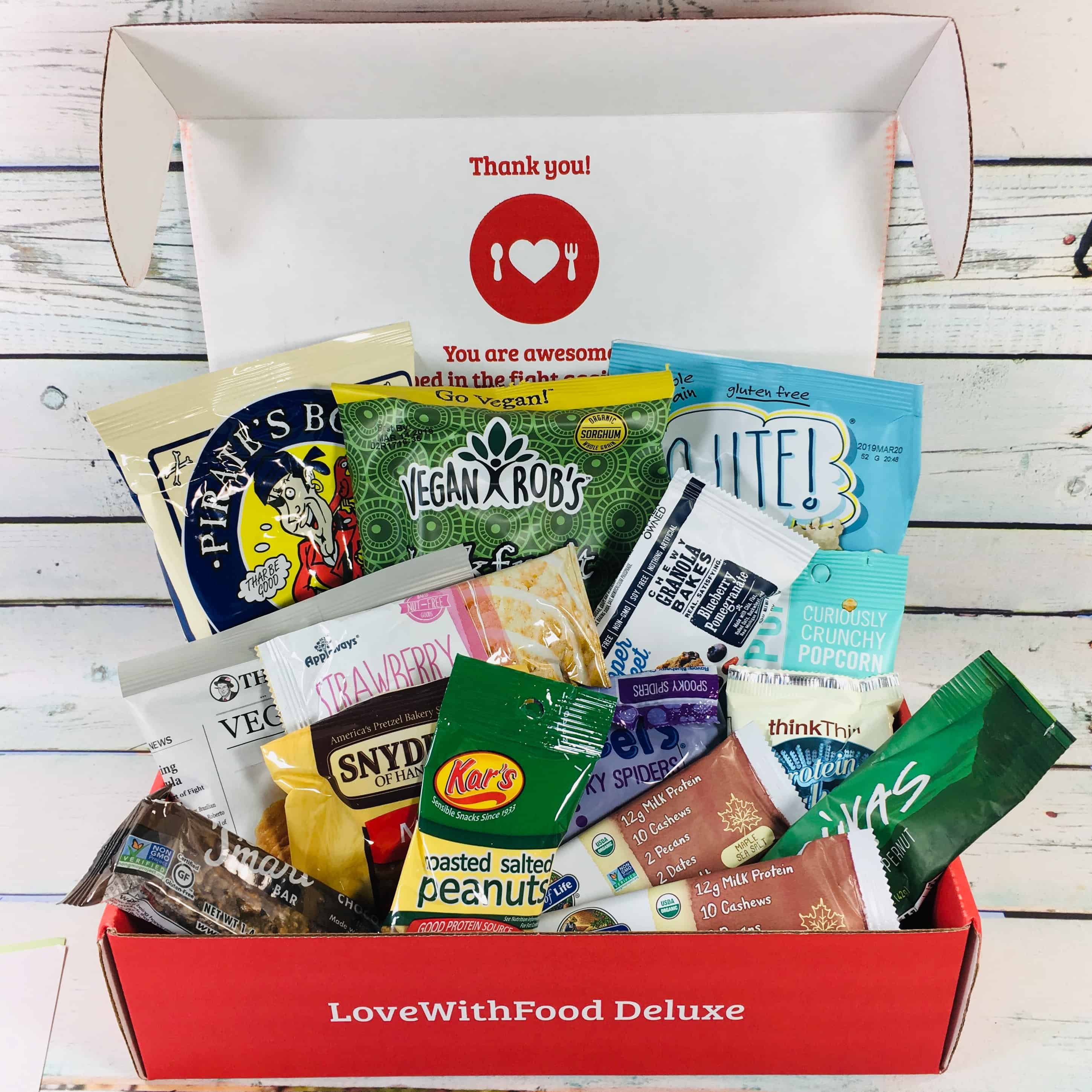 Love With Food October 2018 Deluxe Box Review + Coupon!
