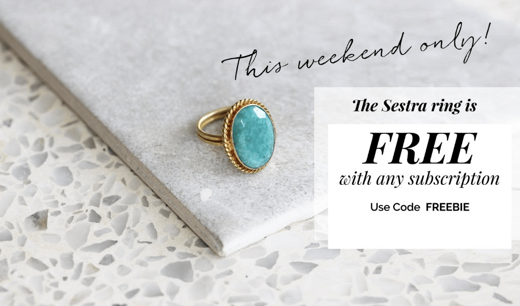 Emma & Chloe Coupon: Get Sestra Ring FREE with Subscription!