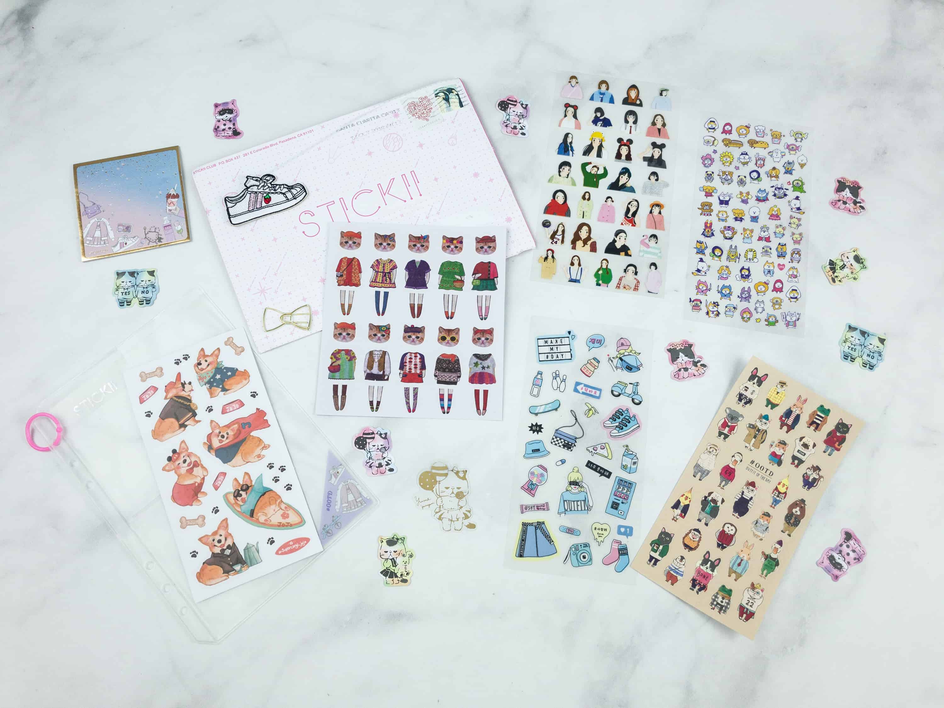 Stickii Club October 2018 Subscription Box Review & Coupon – Cute Pack!