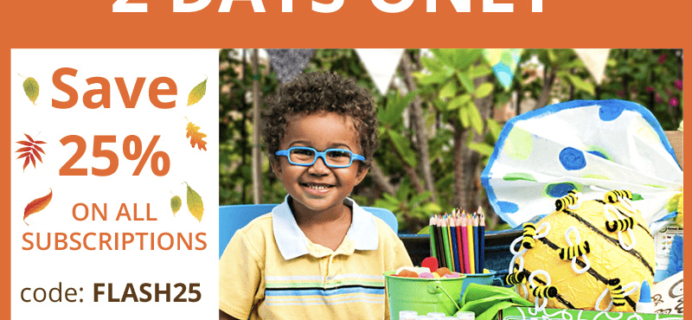 Green Kid Crafts Flash Sale: Get 25% Off Subscriptions!