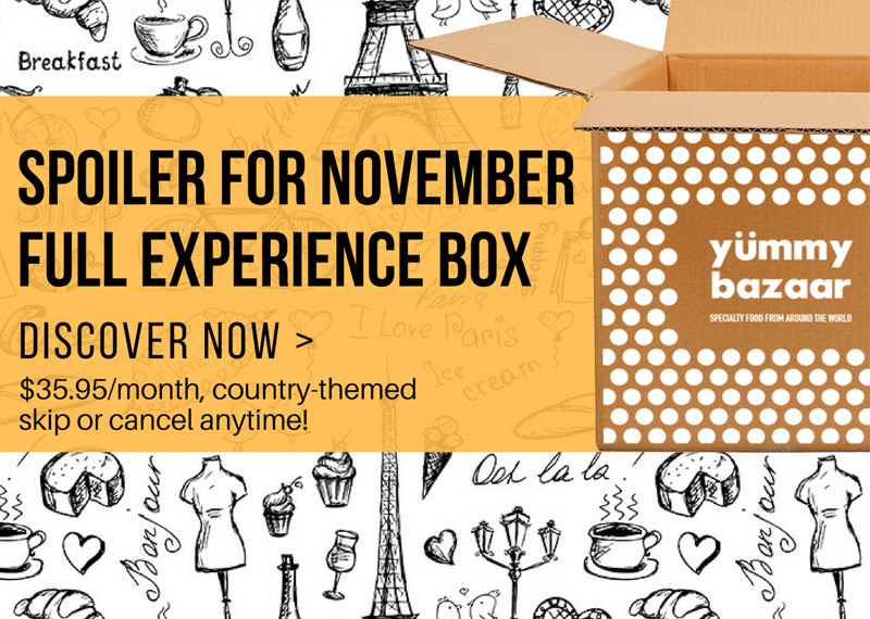 Yummy Bazaar November 2018 Full Experience Box Spoilers