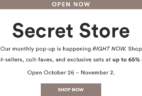 Julep November 2018 Secret Store Open!
