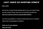 October 2018 Loot Crate DX Shipping Update #2