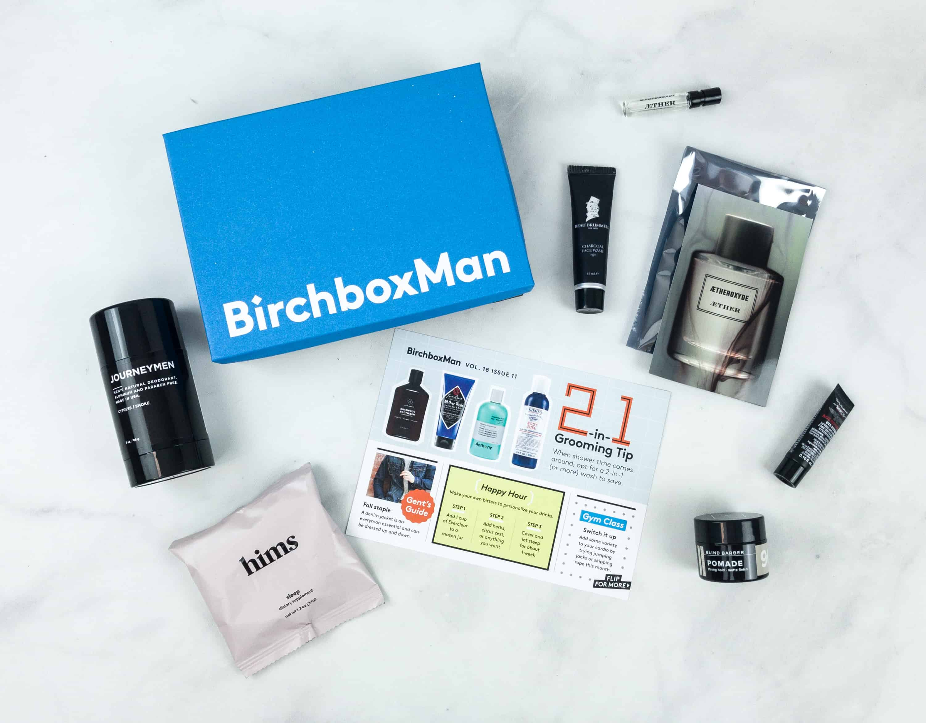 Birchbox Man Plus November 2018 Subscription Box Review & Coupon