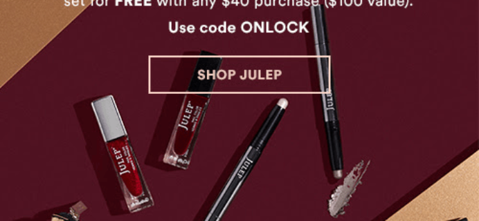 Julep Gift With Purchase Code: Get FREE The Look 6-Piece Beauty Set With Any $40 Purchase!
