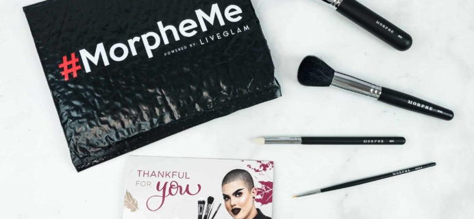 MorpheMe Brush Club November 2018 Subscription Box Review + Free Brush Coupon!