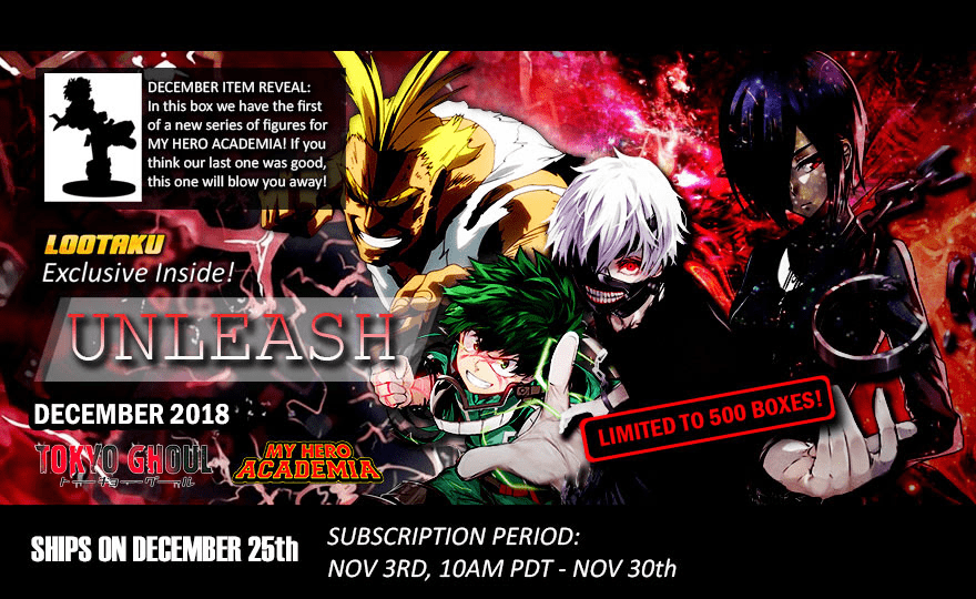 Lootaku December 2018 Theme Spoilers + Coupon!
