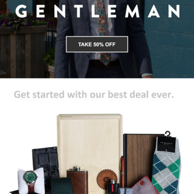 Gentleman's Box Premium Coupon: Get The Councilmen's Box As Your First Box + 50% Off Coupon!
