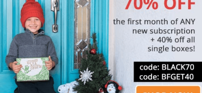 Green Kid Crafts Black Friday 2018 Coupon: Get Up To 70% Off!