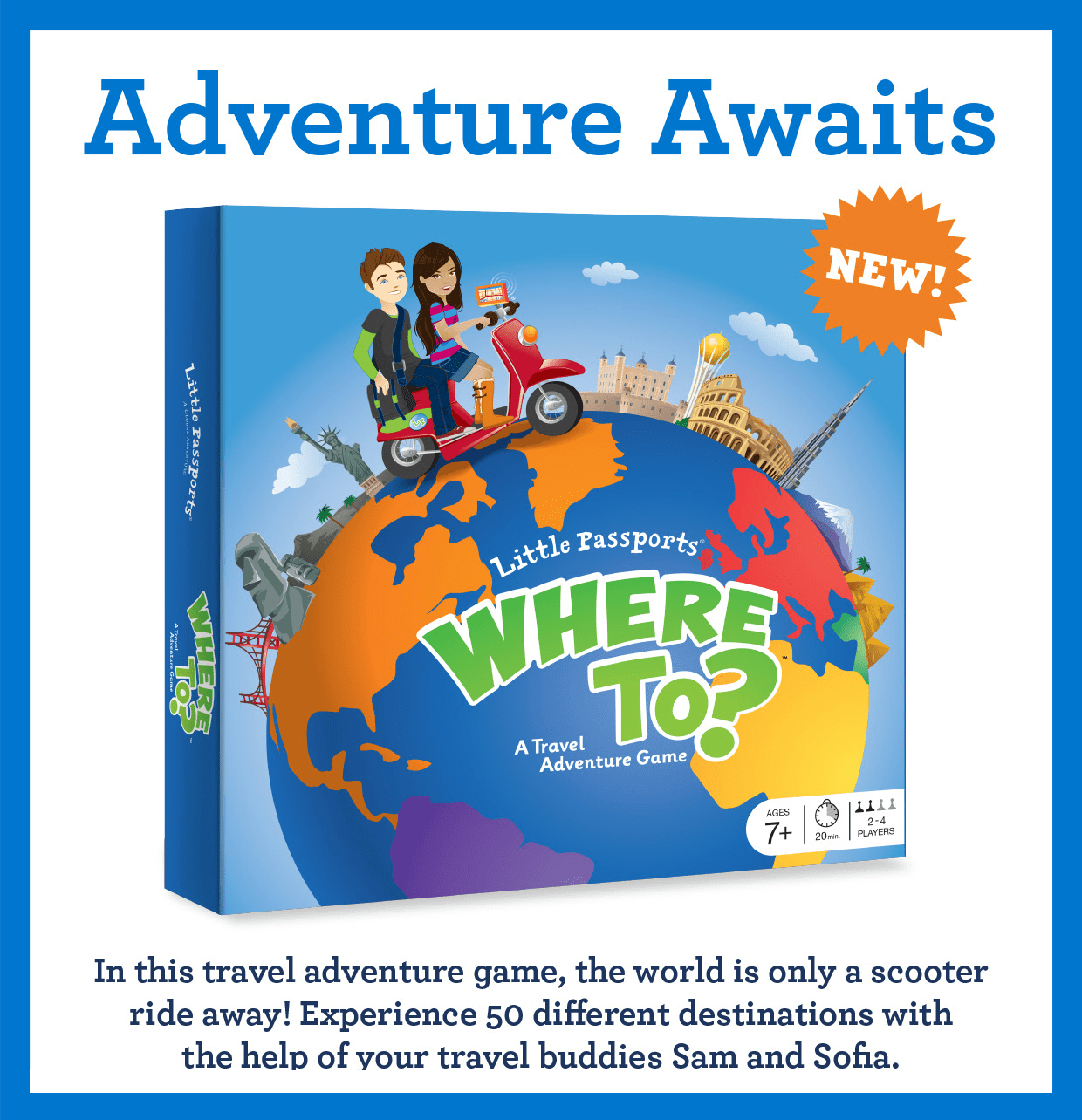 Little Passports Where To? A Travel Adventure Game Available Now + Coupon!