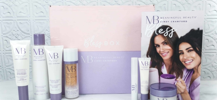 LAST CHANCE for the October 2018 Bless Box x Meaningful Beauty Collab – $10 Coupon!