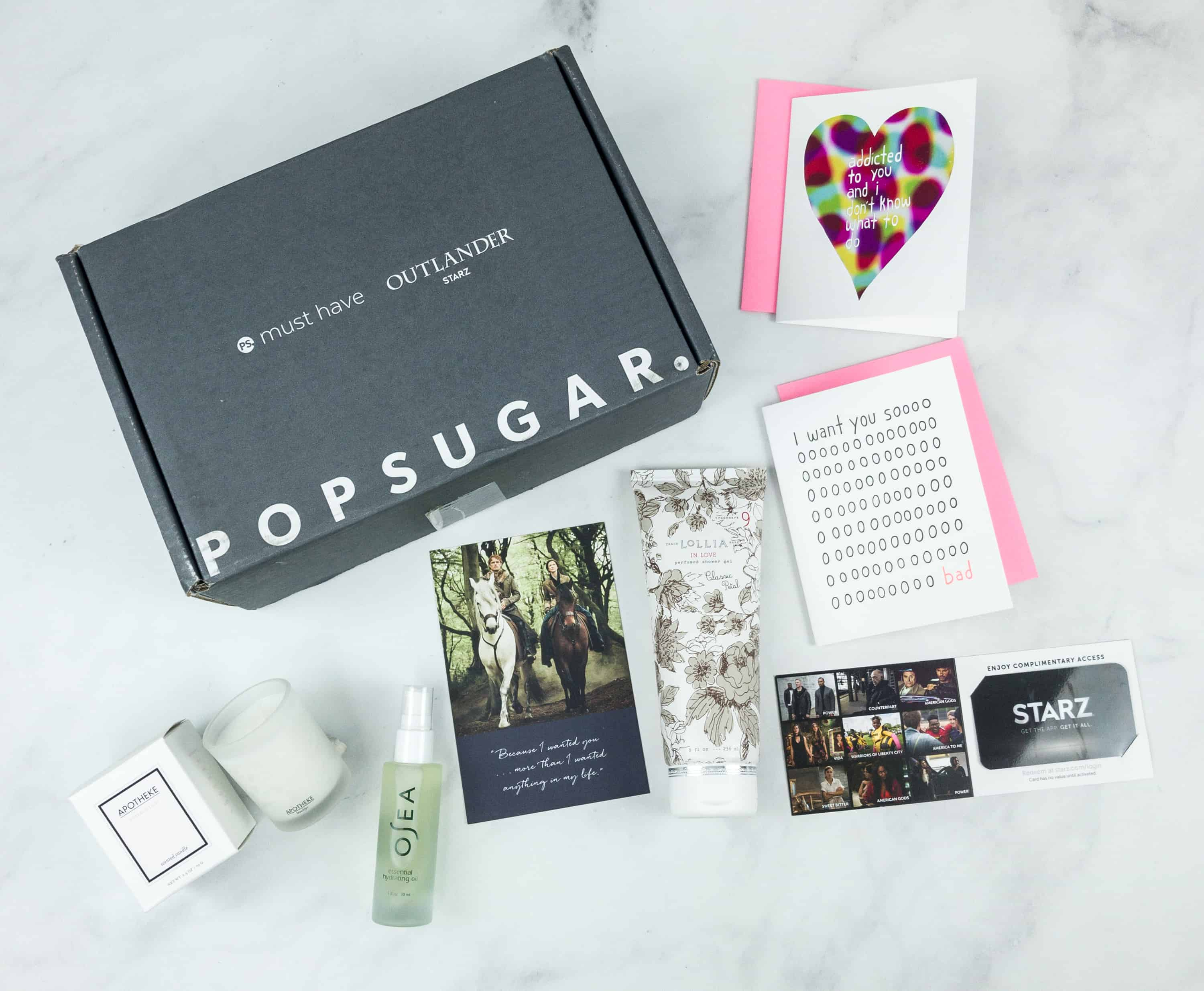 Popsugar Must Have x Outlander 2018 Limited Edition Box Review