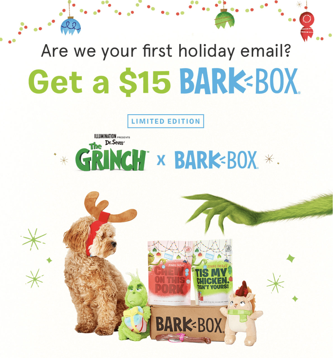 Get The Grinch BarkBox for Just $15 – $14 Off Coupon!