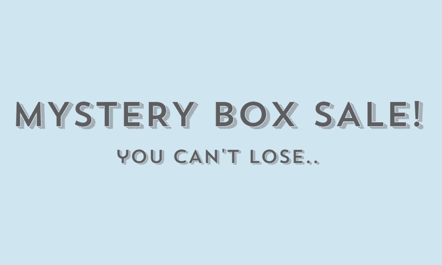 Luxor Box Year End Closeout Mystery Box Sale!