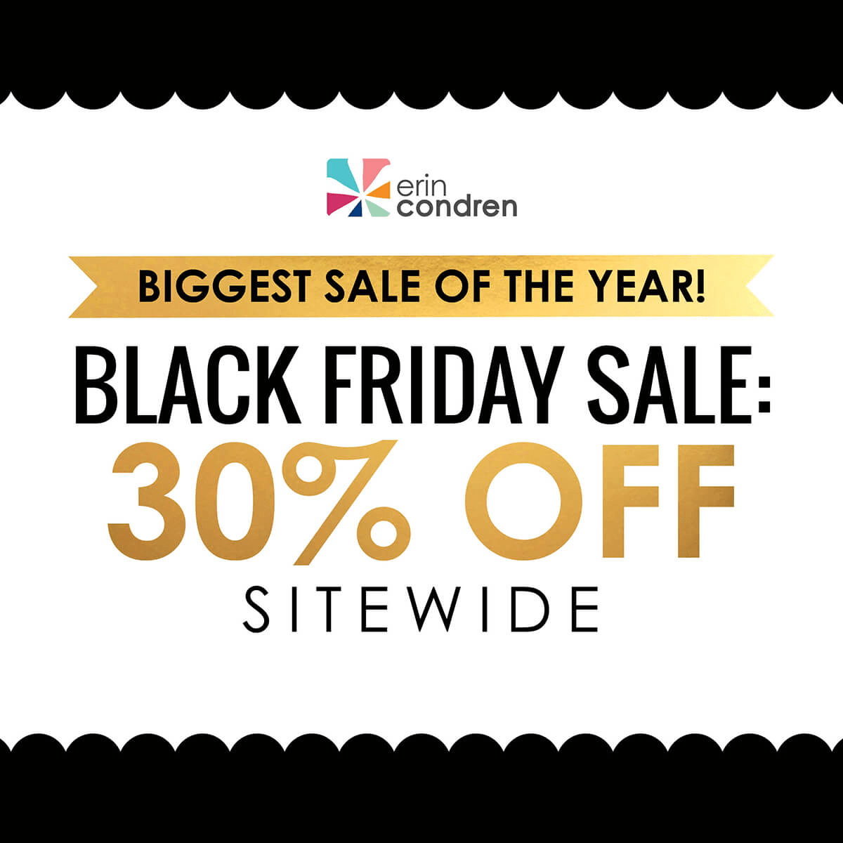 Erin Condren Black Friday 2018 Coupon: Get 30% Off Sitewide!