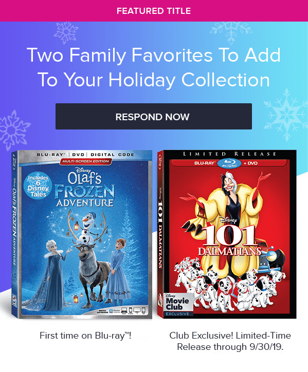 Disney Movie Club December 2018 Selection Time + Coupon!