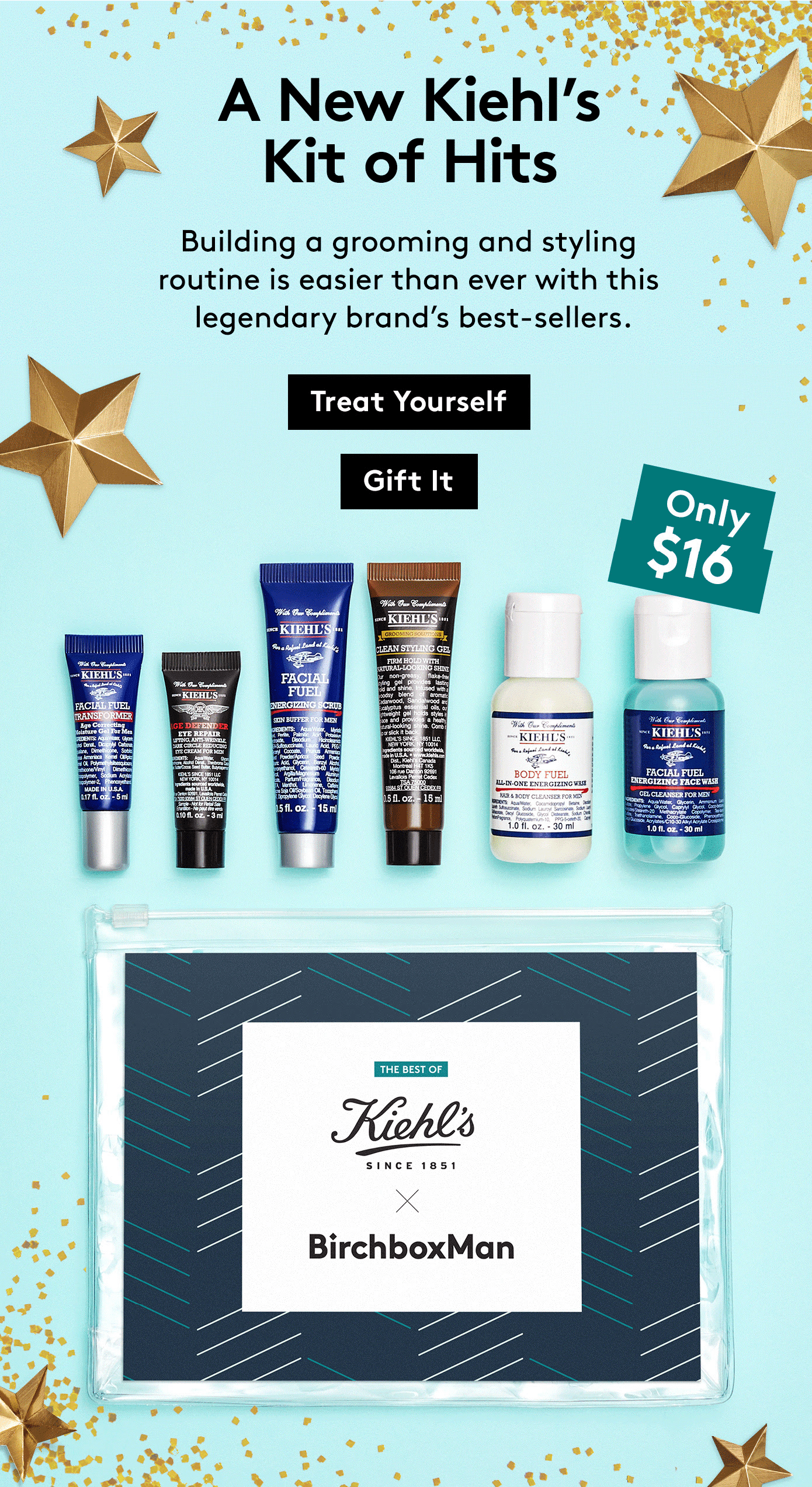 New Birchbox Man Limited Edition Box: The Best of Kiehl's X BirchboxMan Kit + Coupons!
