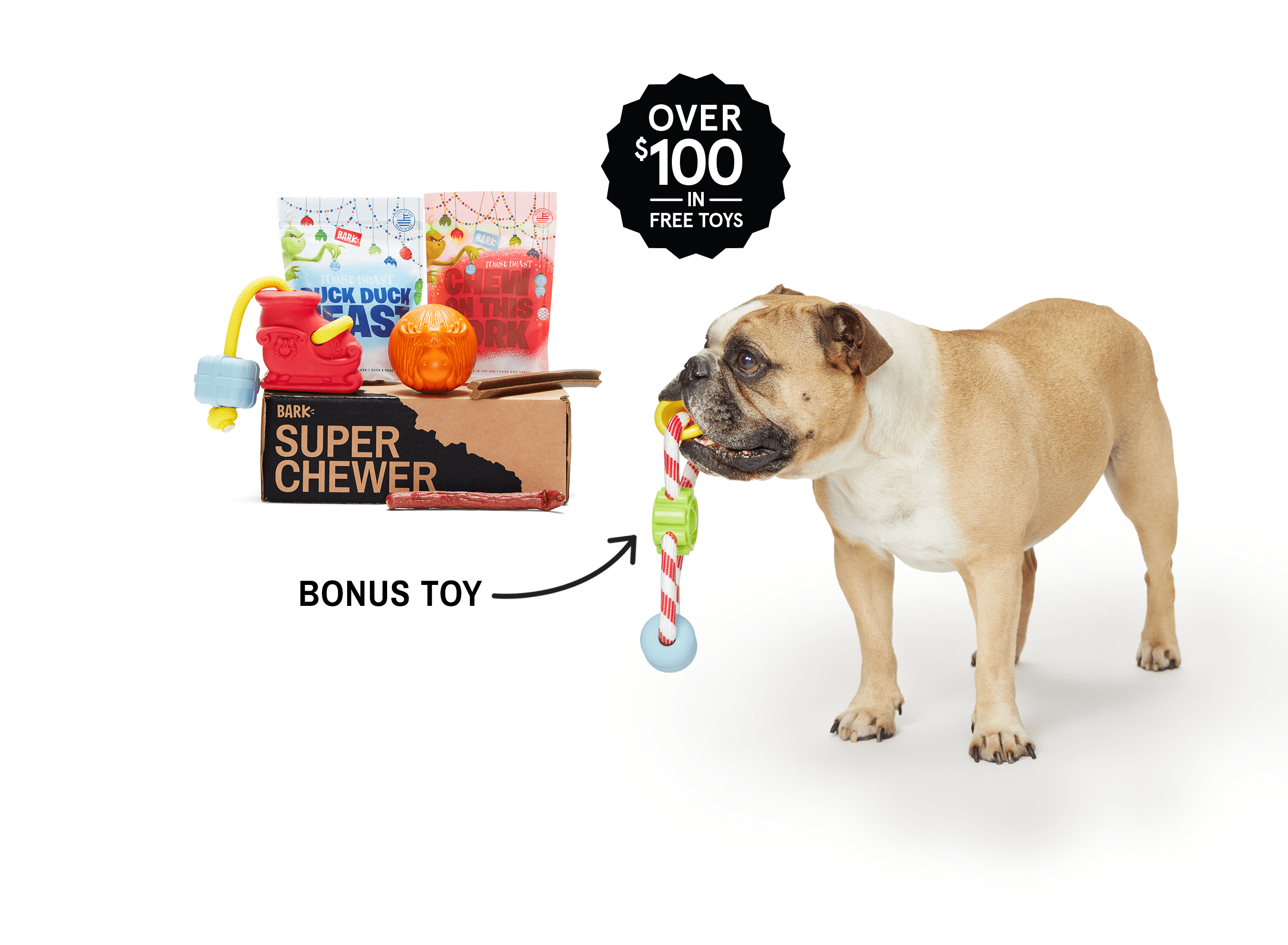 BarkBox Super Chewer Coupon: Get FREE Bonus Toy Every Month With 6+ Month Plan!