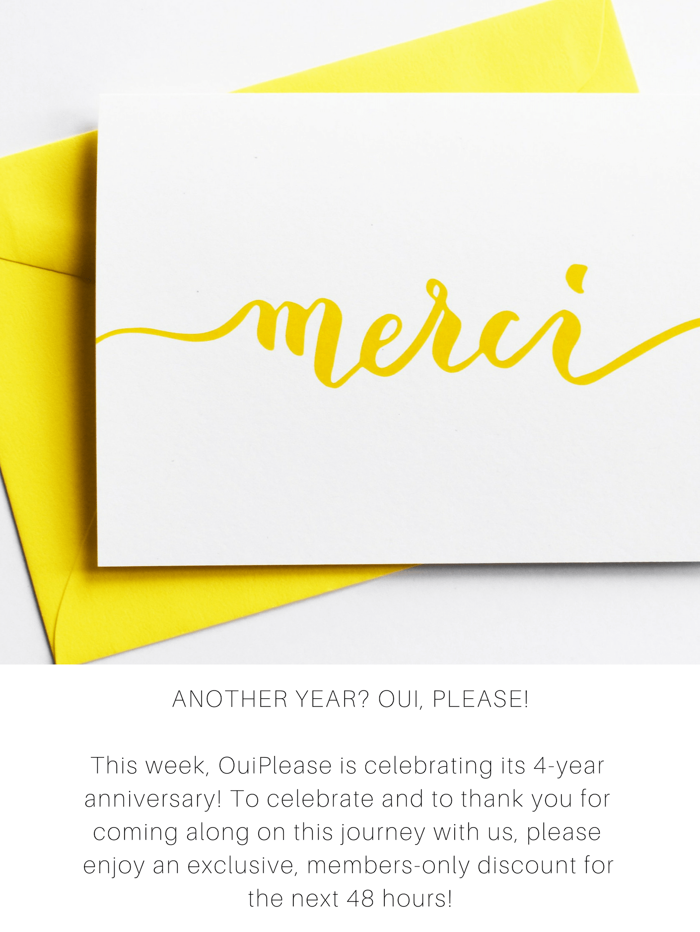 Oui Please Anniversary Sale: Get 30% Off Everything!