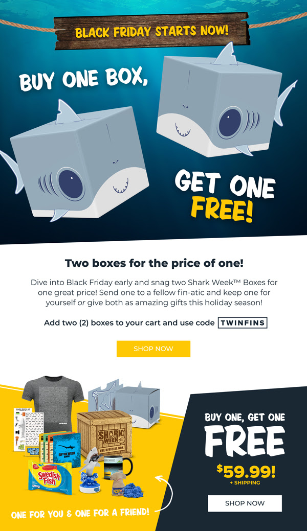 The Official Shark Week Box Black Friday 2018 SALE: Buy One Box and Get One FREE!