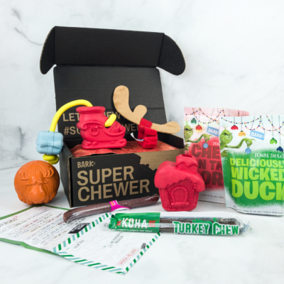 Barkbox Super Chewer November 2018 Subscription Box Review + Free Double Box Coupon!