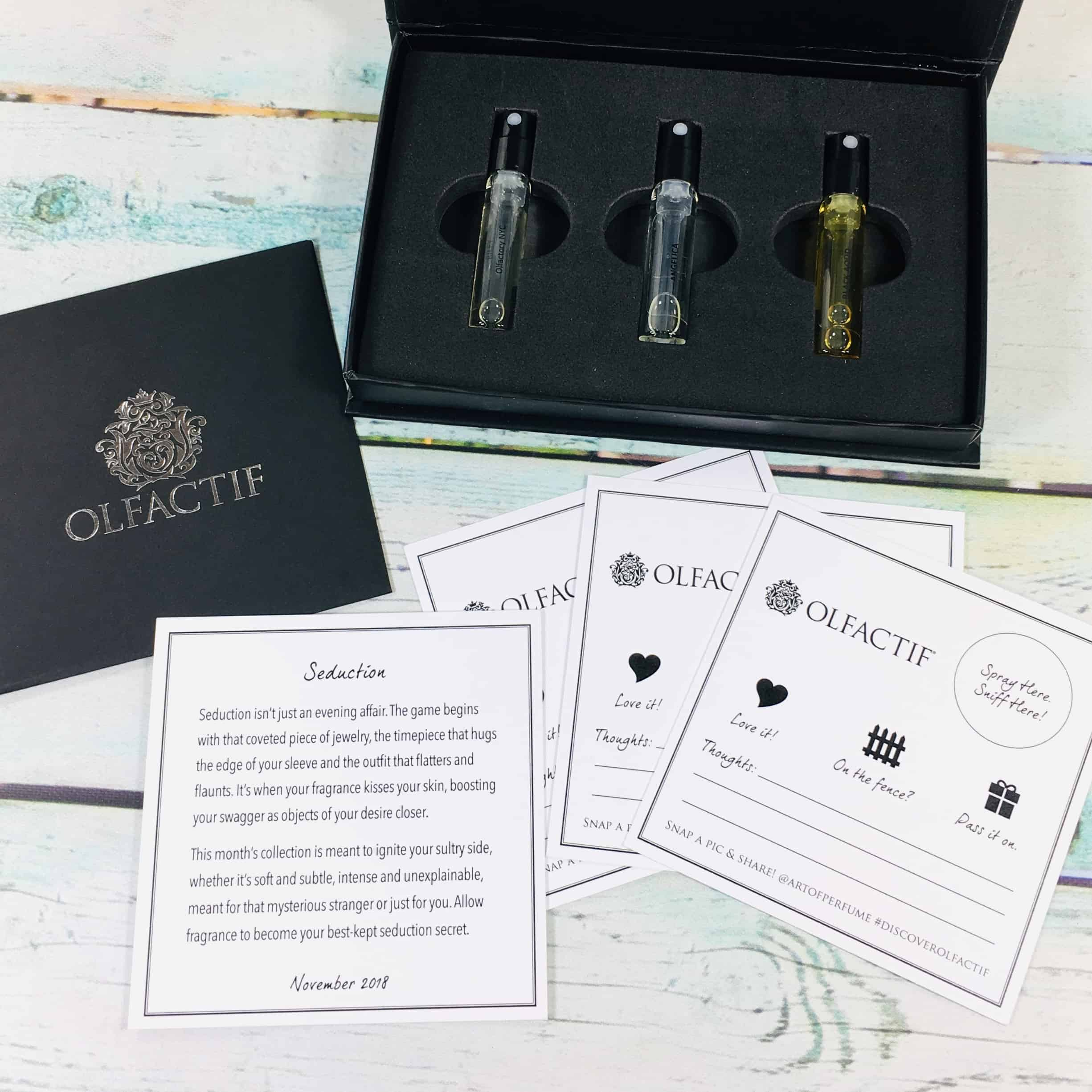Olfactif for Women November 2018 Subscription Box Review